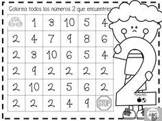 Numbers Preschool, Free Preschool, Math Numbers, Learning Numbers, Grade R Worksheets, Preschool Worksheets, I Love Math, Fun Math, Kindergarten Math Activities