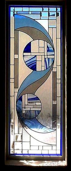 Art Deco Stained Glass Panels Version 1 #StainedGlassMirror