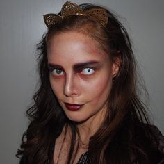Zombie witch makeup idea for Halloween