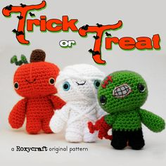Trick or Treat Halloween Crochet Amigurumi Pattern Information Page