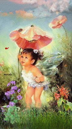 Adorable Little Animated Fairy cute child fantasy animated angel gif fairy
