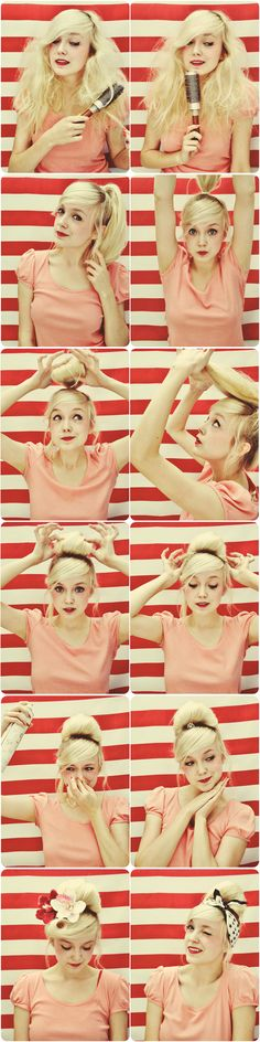 cute vintage hair do!