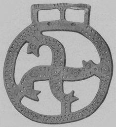 Fylfot brooch, 6th Century CE, France