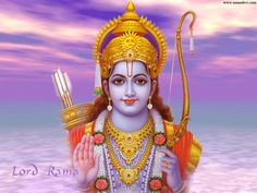 Rama - Hindu God is the 7th incarnation of Vishnu and the central figure of the Ramayana epic.