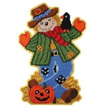 Craftways Scarecrow Wall Hanging Plastic Canvas Kit