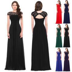 Plus Size Encaje Sexy formal larga noche de fiesta vestido de baile de graduación Dama Vestidos in Ropa, calzado y accesorios, Ropa para mujer, Vestidos | eBay