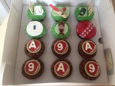 #Ashes #cricket #cupcakes for a 9th birthday