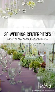 30 Non-Floral Wedding Centerpieces So Stunning, You Won't Miss Flowers ❤ To save your costs we collected beautiful and affordable centerpieces that don't involve flowers. See more: http://www.weddingforward.com/non-floral-wedding-centerpieces/ #weddings #decorations
