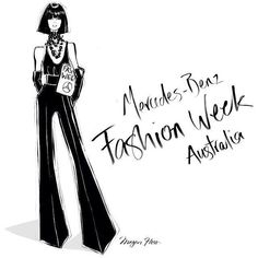 Megan Hess Fashion week Australia Mercedes Benz #megan #hess