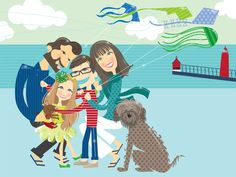 Our New Family Picture by the obscenely talented Katie Moon------LOVE
