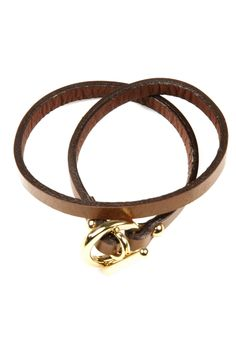 Leather Wrap Bracelet - right up my alley