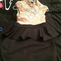 Lace peplum dress Brand new never used. Open back. Dresses