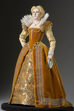 This is an image of Marguerite de Valois She was considered the most beautiful woman in the world during the renaissance period. This dress shows the use of heavy materials and layering of many fabrics a key characteristic of this period of time. Costume Renaissance, Renaissance Mode, Renaissance Fashion, Renaissance Clothing, Elizabethan Dress, Elizabethan Fashion, Tudor Fashion, 1500s Fashion, Medieval Gown