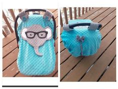 Ready To Be Shipped Fitted Minky Elephant With Glasses And Tail Car Seat Canopy With Peek-A--Boo Opening by lindasnd on Etsy Baby Carrier Cover, Tag Blanket, Babies Stuff, Peek A Boos, Baby Patterns, Future Baby, Baby Items, Canopy, Baby Car Seats
