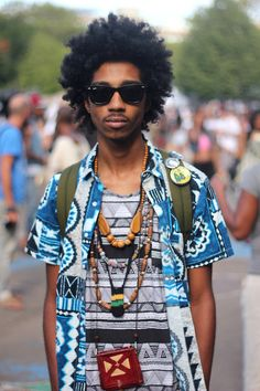 Afro Punk Festival  by aagdolla---an option for natural men who dont want dreads or braids all the time.