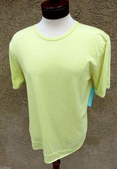VelvetMen Velvet by Graham & Spencer T-Shirt Yellow Crew M Lightweight $59 NWT #Velvet #BasicTee