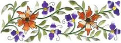 Floral Border Machine Embroidery Designs