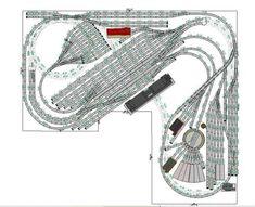 N Scale Model Trains, Model Train Layouts, Scale Models, Model Railway Track Plans, Ho Trains, Round House, Train Tracks, Ho Scale, Vintage Ceramic
