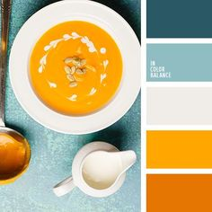 In Color Balance - Color Palette Orange Color Palettes, Blue Colour Palette, Colour Schemes, Color Combos, Color Patterns, Summer Color Palettes, Orange Palette, Gray Color, Pantone