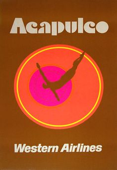 Acapulco * Western Airlines #travel #poster