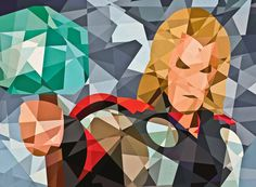 Geometric Marvel characters by Eric Dufresne