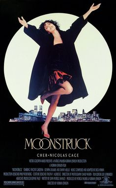 MOONSTRUCK: Directed by Norman Jewison.  With Cher, Nicolas Cage, Olympia Dukakis, Danny Aiello. Loretta Castorini, a book keeper from Brooklyn, New York, finds herself in a difficult situation when she falls for the brother of the man she agreed to marry (the best friend of her late husband who died seven years previously).
