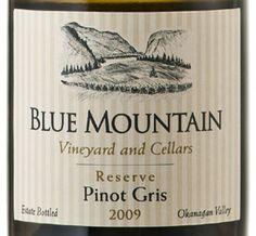 Blue mountain pinot gris Pinot Gris, Blue Mountain, White Wine, Wine
