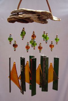 Splendor in the Glass -glass and bead wind chimes