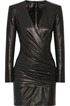 Balmain Leather mini dress | NET-A-PORTER