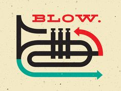 Blow, Trumpet graphic, by Pavlov Visuals