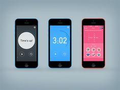 Timer app UI by Mari Takahashi