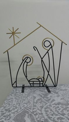 Church Christmas Decorations, Christmas Vases, Christmas Rock, Christmas Projects, Wire Crafts, Metal Crafts, Xmas Drawing, The Nativity Story, Fall Gifts
