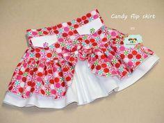 The Girls Ruffle Flip Skirt is an awesome combo of both! Toddler Skirt, Baby Skirt, Little Girl Dresses, Girls Dresses, Skirt Patterns Sewing, Skirt Sewing, Girls Skirt Patterns, Girls Without, Skirt Fashion