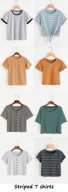 striped t shirts 2017 - romwe.com