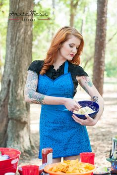 Xmen  Mystique inspired cosplay apron by HauteMessThreads on Etsy,