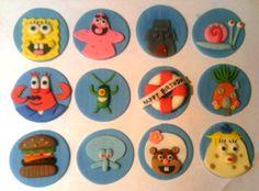 Sponge Bob Inspired Cupcake Toppers Sponge Bob Cupcakes, Spongebob, Cupcake Toppers, Baby Showers, Christening, Party Ideas, Inspired, Birthday, Inspiration