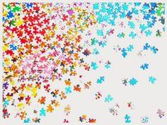 Baby Eco Chic: No te rompas la cabeza... cuadro de piezas de puzzles / Don´t be puzzled - a work of art out of puzzle pieces / Don´t be puzzled - a work of art out of puzzle pieces
