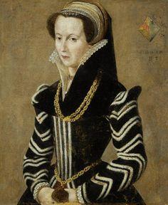16th Century  French School,  Portrait of a lady, half-length.  |  Bonhams