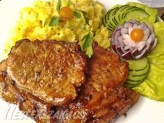 Fűszeres malackarajszeletek recept Tandoori Chicken, Pork, Meat, Ethnic Recipes, Google, Food Food, Pork Roulade, Pigs, Pork Chops