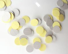 Yellow Gray & White Garland Yellow Gray Wedding Decoration