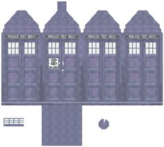 Tardis in 3D Cross Stitch/Plush Pattern PDF by robinsdesign, $15.00