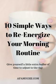 10 Simple ways to re-energize your morning routine Morning Routines, Morning Habits, Daily Routines, Self Motivation Quotes, Life Changing Books, Miracle Morning, Activities For Adults, Motivational Books, Morning Affirmations