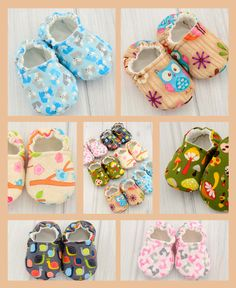 Love these cloth baby shoes.