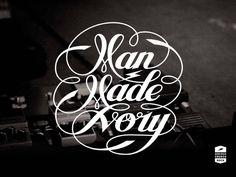 MAN MADE IVORY band logo by bijdevleet
