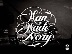 MAN MADE IVORY band logo design
