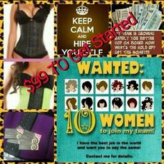 Ladies we are looking for motivated women to become distributors!! Join us while we encourage women how to waist train!! Email me for more info! Bettyboopdiva32@gmail.com