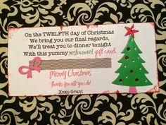 easy 12 days of christmas idea printables time - 12 Days Of Christmas For Neighbors