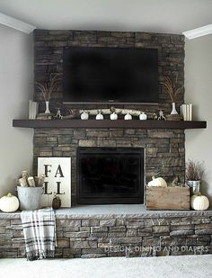 Neutral Fall Mantel designdininganddiapers.com