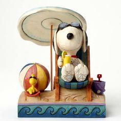 "6"" Snoopy and Woodstock at Beach Figurine Figure Disney Disneyland Statue"