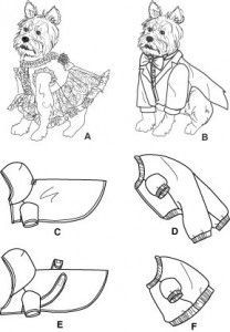 free dog clothing #sewing patterns: dress, suit, hoodie, pajamas, jacket, and sweater